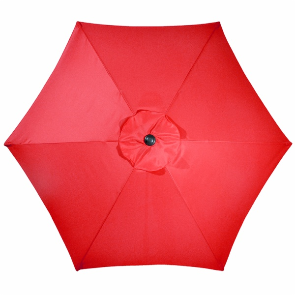 MYAL 8ft Patio Umbrella 6 Steel Ribs Canopy Outdoor, Red