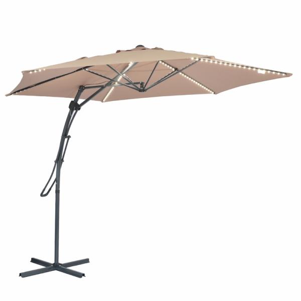 MYAL 9ft Offset Hanging Outdoor Umbrella Garden Tan